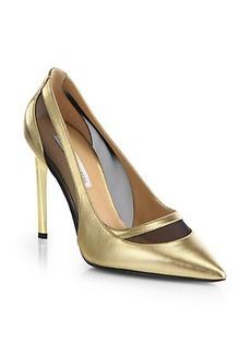 Diane von Furstenberg Blaize Leather & Mesh Pumps