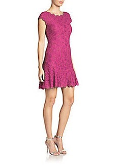Diane von Furstenberg Brittany Lace Flared-Hem Dress