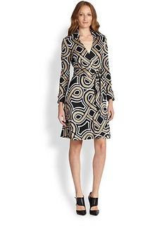 Diane von Furstenberg Bruna Printed Wrap Dress