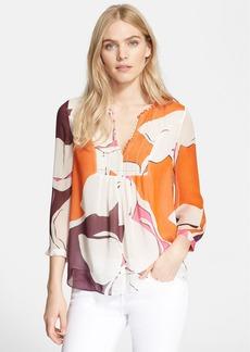 Diane von Furstenberg 'Camden' Floral Print Silk Top