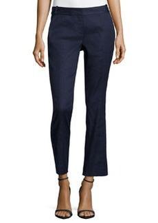Diane Von Furstenberg Carissa Linen-Blend Straight Leg Pants, Bright Ink