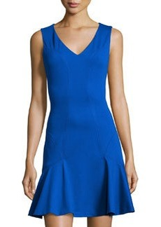 Diane von Furstenberg Carla Flared V-Neck Sleeveless Dress, Star Sapphire