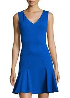 Diane von Furstenberg Carla Flared V-Neck Sleeveless Dress, Star Sapphire