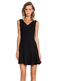 Diane von Furstenberg Carla Mini Dress in Black