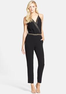 Diane von Furstenberg 'Caroline' Embellished Stretch Silk Jumpsuit