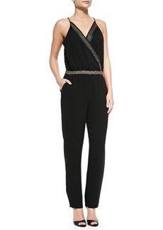 Diane von Furstenberg Caroline Embellished Surplice-Top Jumpsuit  Caroline Embellished Surplice-Top Jumpsuit