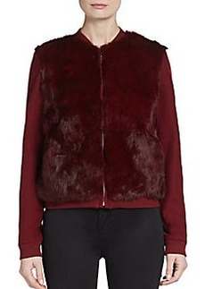 Diane von Furstenberg Carrington Fur-Front Jacket