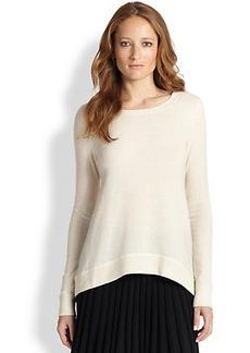 Diane von Furstenberg Cashmere Ribbed-Back Sweater