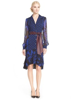 Diane von Furstenberg 'Catherine' Silk Print Shirtdress