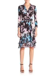 Diane von Furstenberg Cathy Printed Silk Wrap Dress