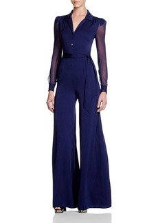 DIANE von FURSTENBERG Cathy Sheer Sleeve Jumpsuit - Bloomingdale's Exclusive
