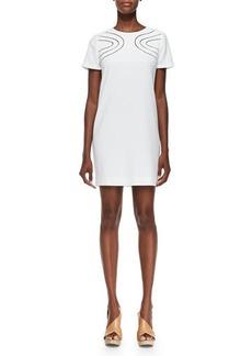 Diane von Furstenberg Cecilia Cutout-Front Crepe Dress