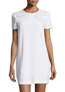 Diane von Furstenberg Cecilia Cutout-Front Short-Sleeve Dress
