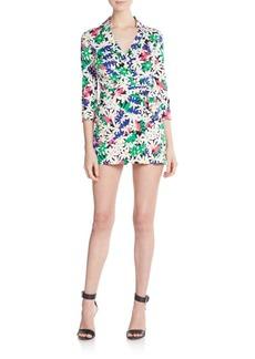 Diane von Furstenberg Celeste Floral-Print Cotton & Silk Romper