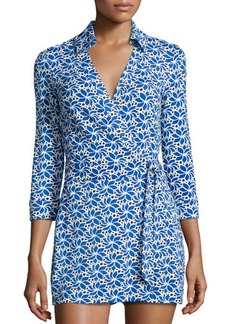Diane von Furstenberg Celeste Printed 3/4-Sleeve Jumpsuit