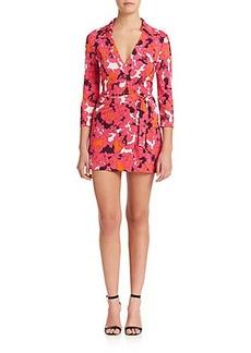 Diane von Furstenberg Celeste Silk Jersey Short Wrap Jumpsuit
