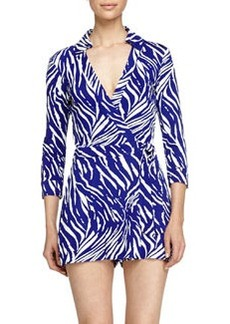 Diane von Furstenberg Celeste Tiger-Shadow Jumpsuit, Purple Chrome