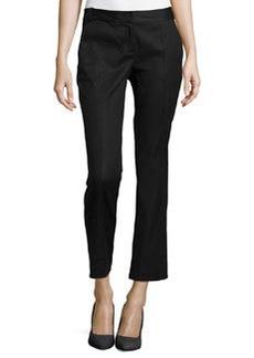 Diane von Furstenberg Center-Seam Ankle Slim Pants, Black