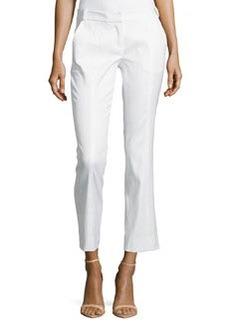 Diane Von Furstenberg Center-Seam Ankle Slim Pants, White