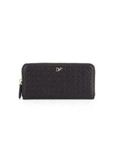 Diane von Furstenberg Chain-Link-Quilted Leather Wallet, Black