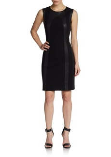 Diane von Furstenberg Charlize Mixed Media Dress