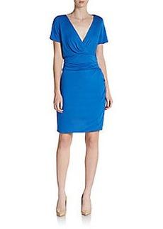 Diane von Furstenberg Chelsea Ruched Stretch Jersey Mini Dress