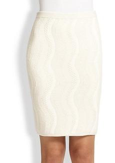 Diane von Furstenberg Chenille Pencil Skirt