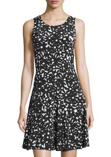Diane von Furstenberg Clara Floral Sleeveless A-Line Dress
