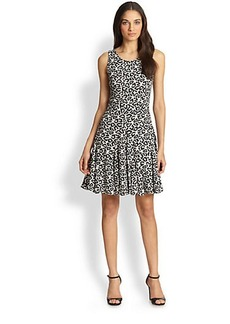 Diane von Furstenberg Clara Sleeveless Leopard-Print Dress
