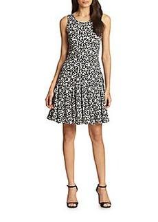 Diane von Furstenberg Clara Sleeveless Leopard-Print Dress