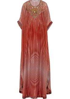 Diane von Furstenberg Clare embellished printed silk-blend kaftan