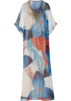 Diane von Furstenberg Clare embellished silk-chiffon maxi dress
