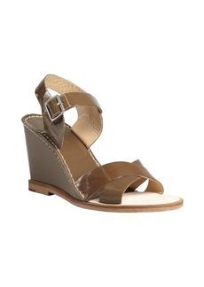 Diane Von Furstenberg clay patent leather strappy 'Dagga' wedges
