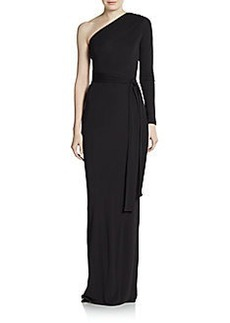 Diane von Furstenberg Coco One Sleeve Maxi Dress