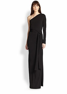 Diane von Furstenberg Coco One-Sleeve Maxi Dress