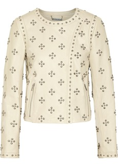 Diane von Furstenberg Cocoa studded leather jacket