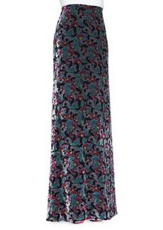 Diane von Furstenberg Cody Floral Velvet Maxi Skirt