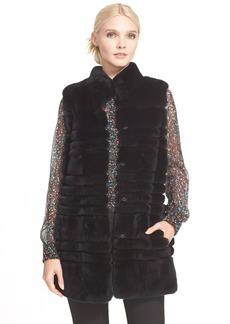 Diane von Furstenberg 'Colby' Genuine Rex Rabbit Fur Vest