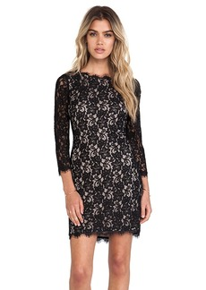 Diane von Furstenberg Colleen Lace Dress in Black