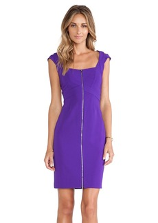 Diane von Furstenberg Corinne Zipper Front Dress in Purple