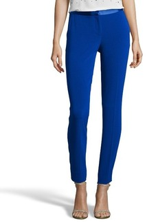 Diane Von Furstenberg cosmic cobalt stretch crepe 'Cady' flat front cropped pants
