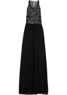 Diane von Furstenberg Crystal-embellished silk-chiffon gown