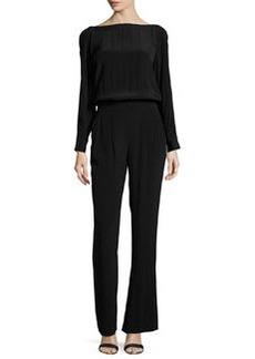 Diane von Furstenberg Cynthia Long-Sleeve Jumpsuit, Black