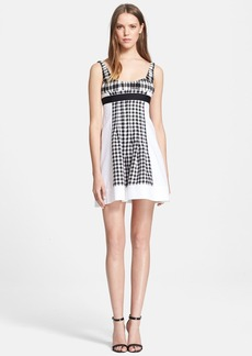 Diane von Furstenberg 'Daisy' Check Wool & Silk Fit & Flare Dress