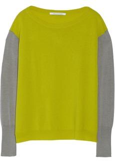 Diane von Furstenberg Dana color-block wool-blend sweater