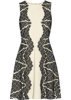 Diane von Furstenberg Danella lace-embellished crepe dress
