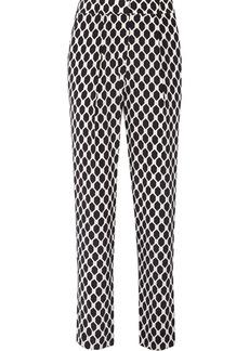 Diane von Furstenberg Dani printed silk straight-leg pants