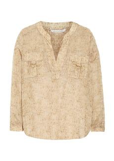 Diane von Furstenberg Danielle metallic silk-chiffon top