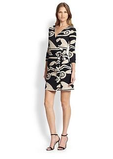 Diane von Furstenberg Daphnis Printed Mini Wrap Dress
