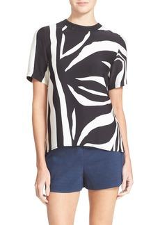 Diane von Furstenberg 'Dayle' Zebra Print Silk Tee